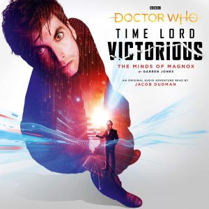 The cover of 'The Minds of Magnox' featuring the Tenth Doctor and an Ood.
