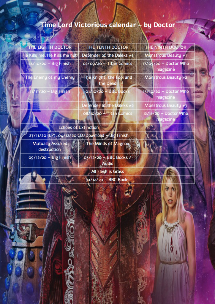 Free Time Lord Victorious Calendar