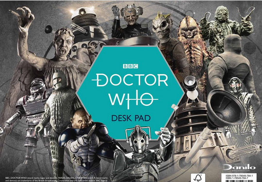 Front cover of Doctor Who desk pad