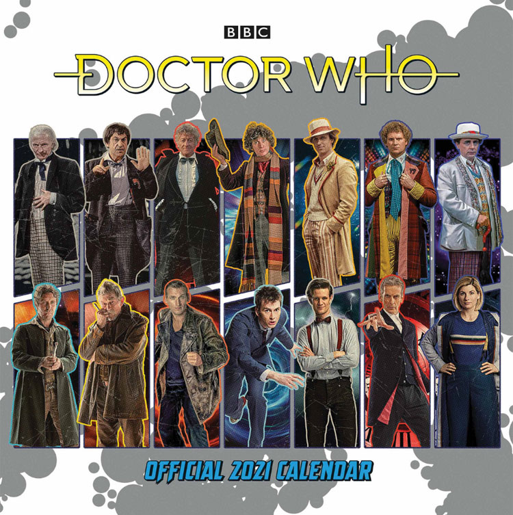Front cover of the Classic Edition 2021 Doctor Who Calendar