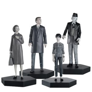 9cm tall figurines of the first Doctorm Ian, Barbara & Susan as seen in 'An Unearthly Child' - by Eaglemoss
